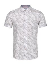 Ted Baker Small Geo Print Short Sleeve Shirt