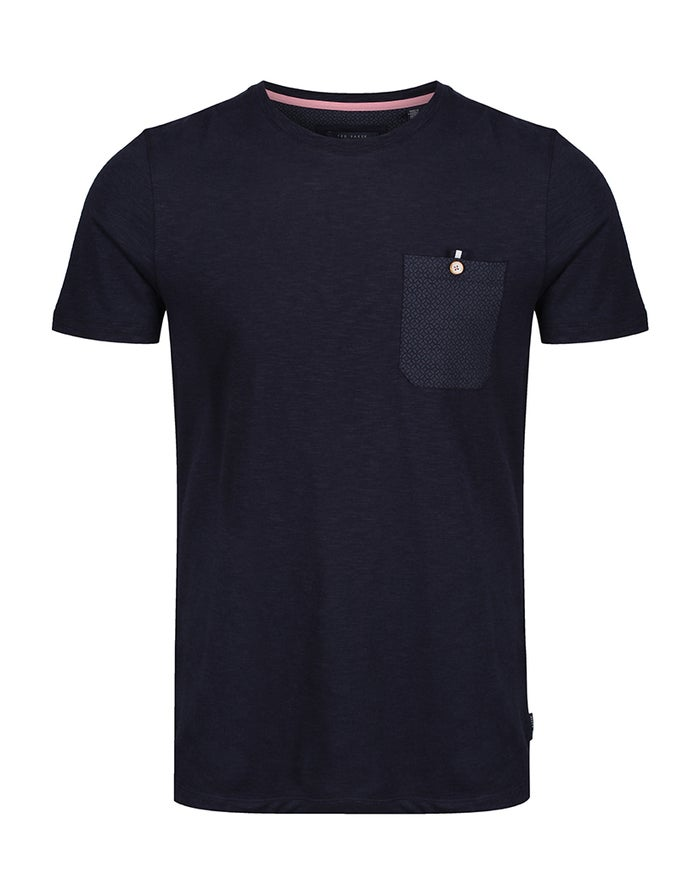 T-Shirt a Manica Corta Ted Baker Pocket Detail Slub