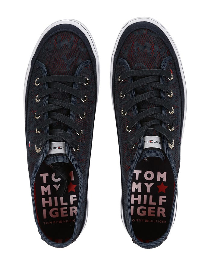 Tommy Hilfiger Jacquard Flatform Women's Shoes