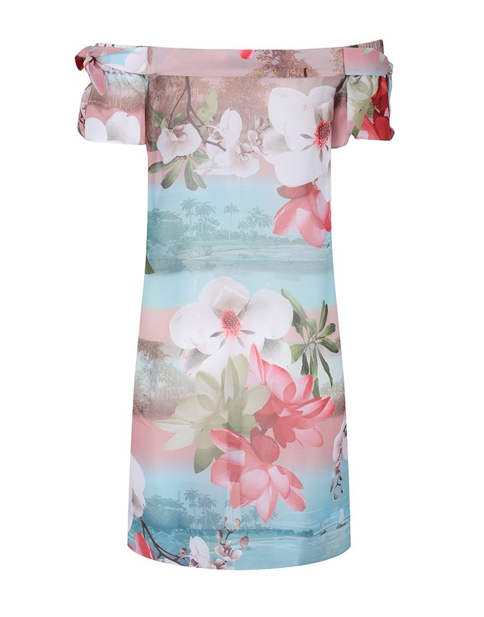 Ted Baker Sayge Off The Shoulder Cover Up Kaftan