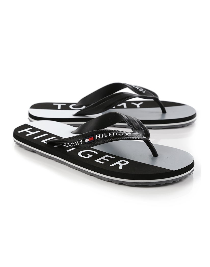 922304ded9 Tommy Hilfiger Colour Blocked Print Beach Sandals - Black | Country Attire