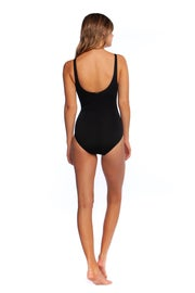 Ralph Lauren Bcs Loop Front Ots 1pc Slimming Fit Women's Swimsuit