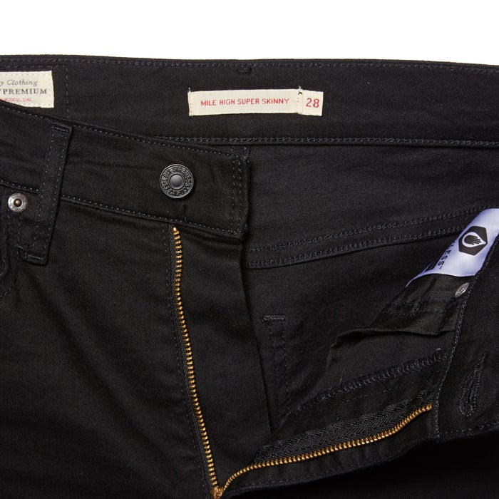 Calças de Ganga Senhora Levis Mile High Super Skinny Black Galaxy