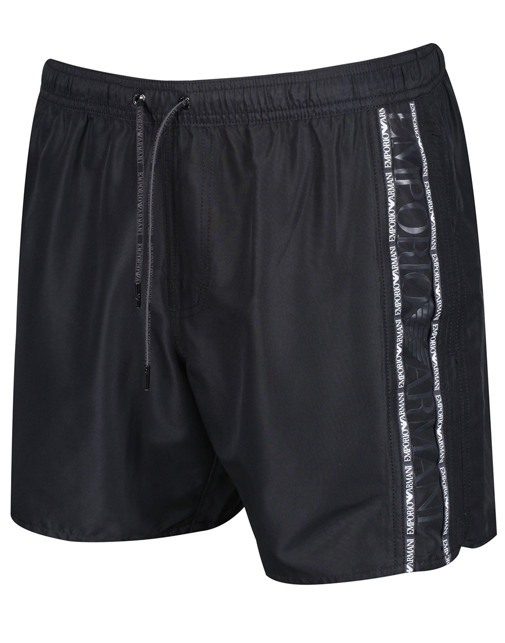 b05811ae4bd0a Emporio Armani Woven Colour Block Swim Shorts - Nero | Country Attire