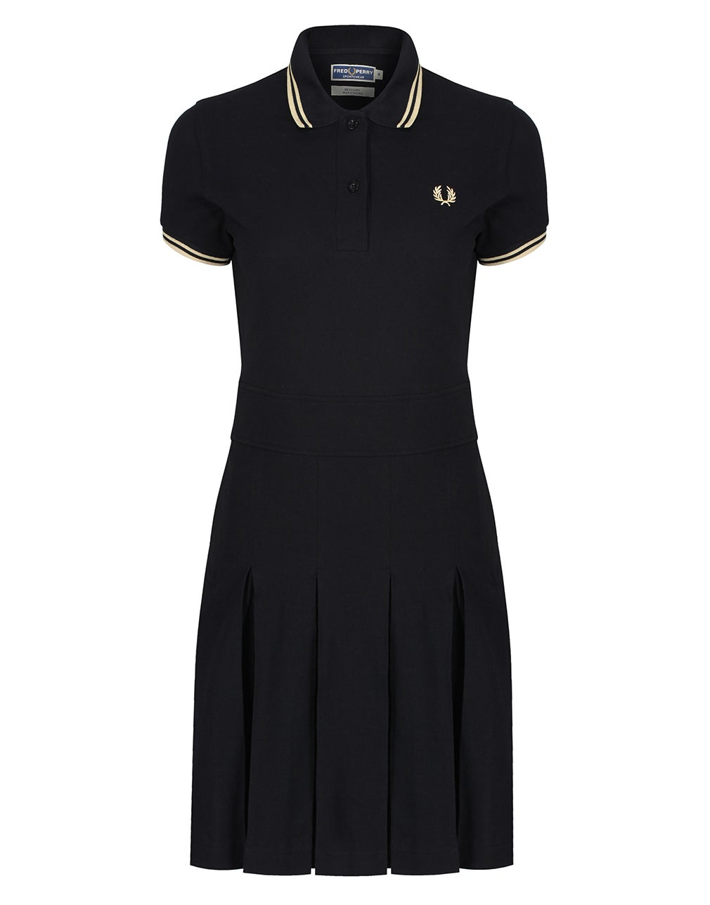 Fred Perry Re Issues Pleated Pique Tennis Kleid