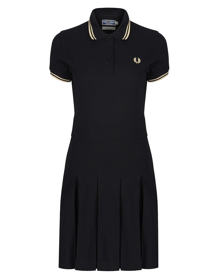 Robe Fred Perry Re Issues Pleated Pique Tennis