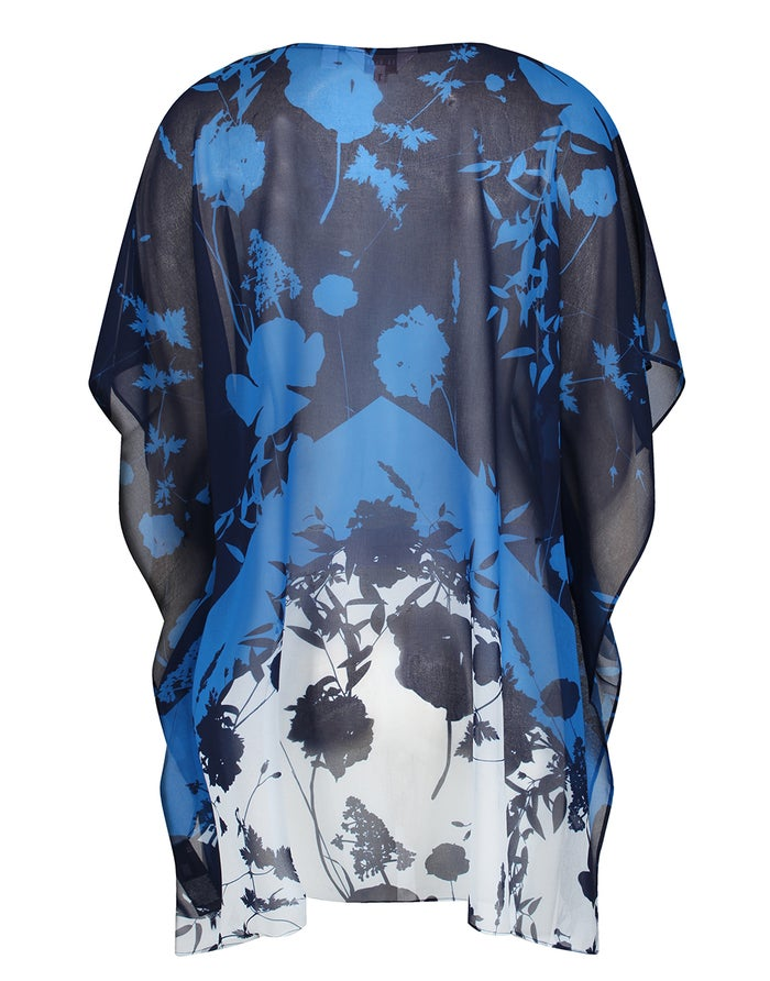 Ted Baker Lianna Bluebell V Neck Cover Up Kaftan