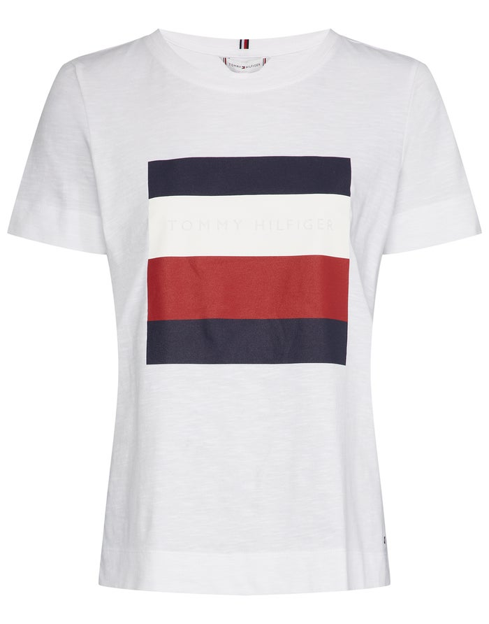 c4918fed4bf Tommy Hilfiger Cathy Crew Neck Women's Short Sleeve T-Shirt