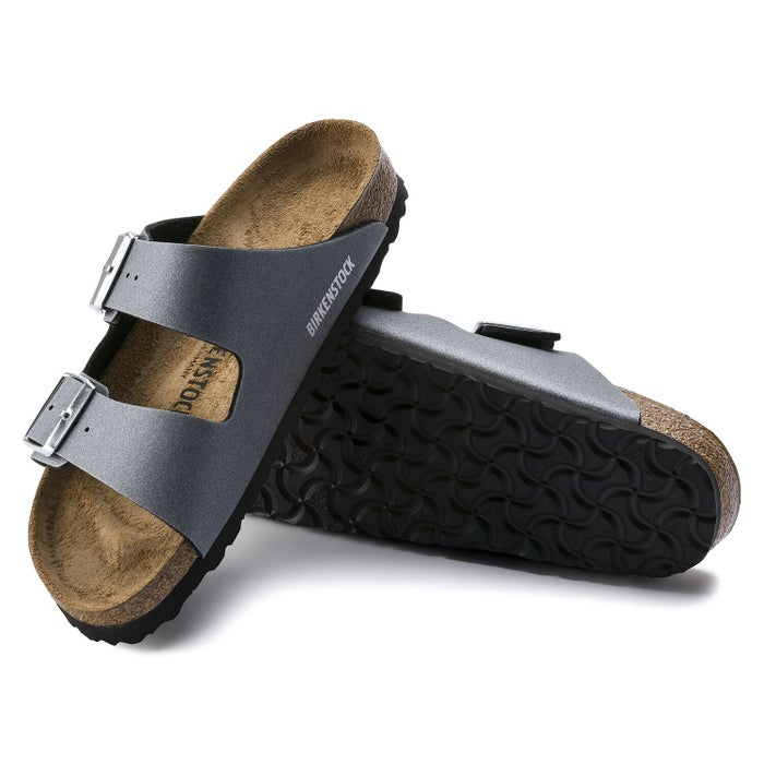 new arrivals 20bf6 0a7a1 Birkenstock Arizona Damen Sandalen - Icy Metallic Anthracite ...