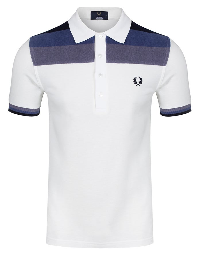 Fred Perry Re Issues Towelling Panel Pique Poloshirt