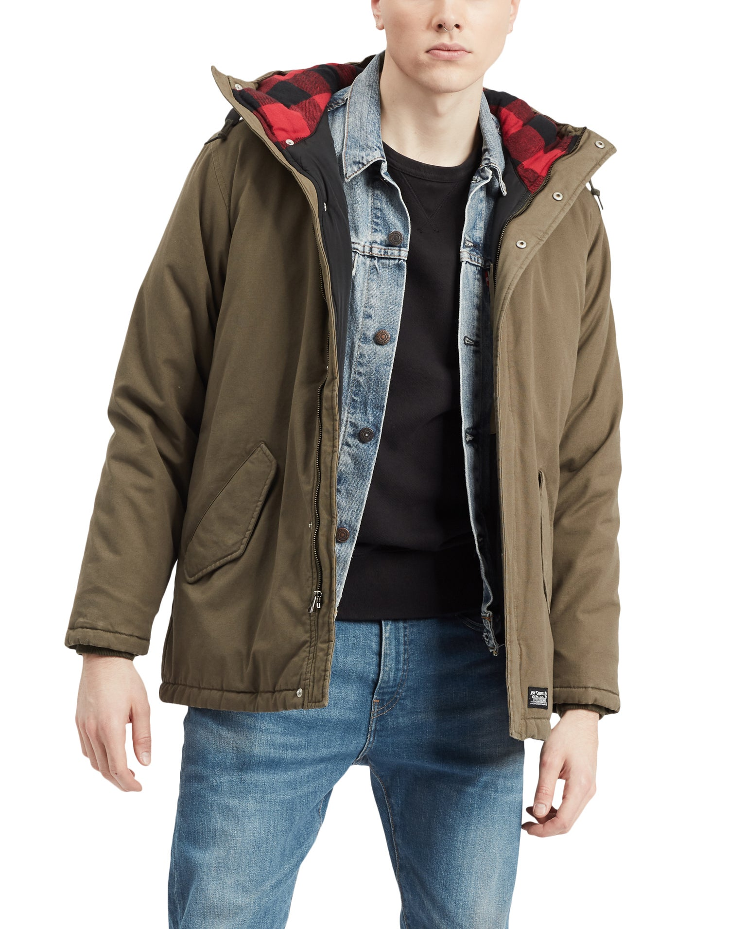 fabf26f9d Levis Thermore Padded Parka Jacket - Olive Night 2 | Country Attire