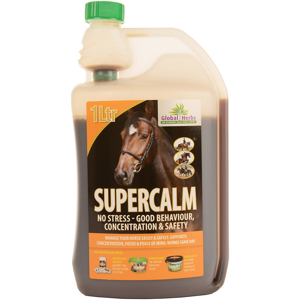 Global Herbs Supercalm Liquid 1 Litre Kalmerend Supplement