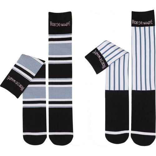 532ace8a210c Horseware Polo Two Pack Show Ladies Socks - Navy Multi Stripe