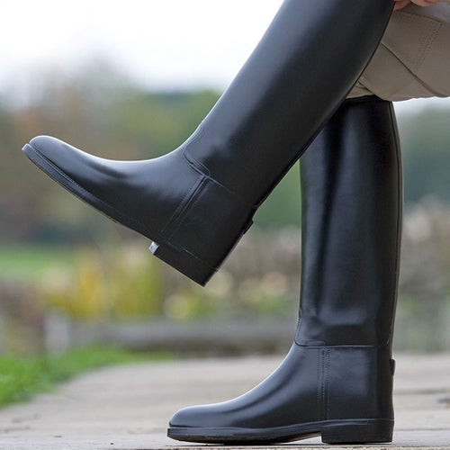 080544fea33d Shires Childs Waterproof Rubber Childrens Long Riding Boots - Black