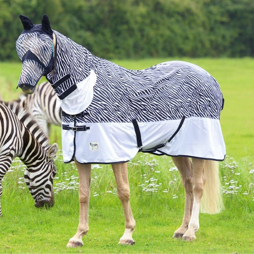 Shires Tempest Zebra Combo Fly Rug Available From Derbyhouse