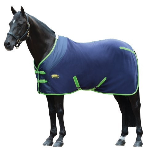 Weatherbeeta Fleece Standard Neck Cooler Rug Navy Lime