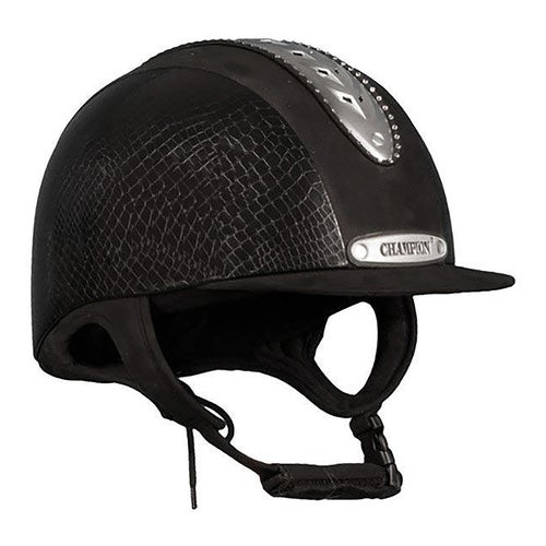 fb6f7f0e1f62e Champion Evolution Couture Riding Hat - Black Mock Croc