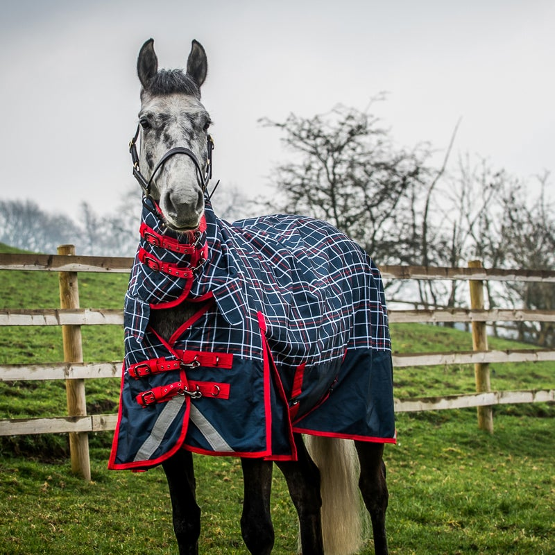 Derby House Elite Lightweight Checked Combo Turnout Rug