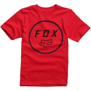 Fox Racing Settled Youth Short Sleeve T-Shirt - Dark Red