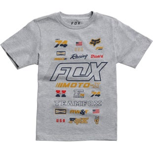 Fox Racing Edify Youth Short Sleeve T-Shirt - Light Heather Grey