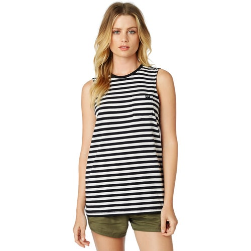 Fox Racing Jail Break Womens Tank Vest - Black White