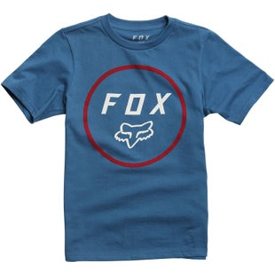 Fox Racing Settled Youth Short Sleeve T-Shirt - Dusty Blue