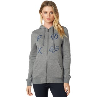 Fox Racing Staged Womens Zip Hoody - Heather Graphite