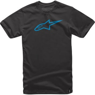 Alpinestars Ageless Classic Short Sleeve T-Shirt - Black Cyan
