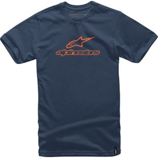 Alpinestars Always Short Sleeve T-Shirt - Navy Orange