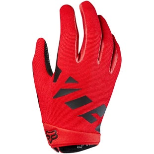 Fox Racing Ranger Youth Bike Gloves - Bright Red