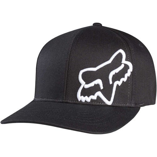 Fox Racing Flex 45 Flexfit , Cap - Black White