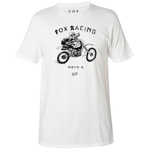Fox Racing Brigade Premium Short Sleeve T-Shirt - Optic White