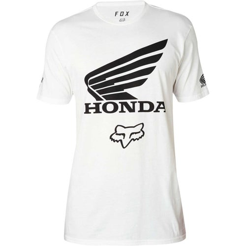 Fox Racing Honda Premium T-Shirt Korte Mouwen - Optic White