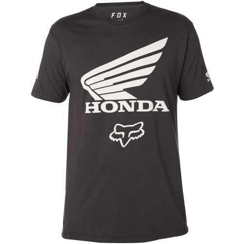 Fox Racing Honda Premium Short Sleeve T-Shirt - Black Vintage