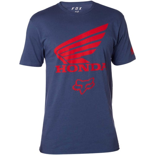Fox Racing Honda Premium T-Shirt Korte Mouwen - Light Indigo