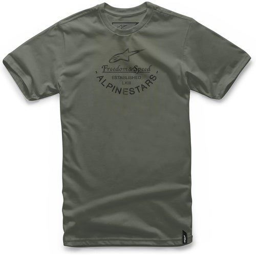 Alpinestars And Short Sleeve T-Shirt - Military Green