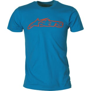 Alpinestars Blaze Short Sleeve T-Shirt - Turquoise Orange