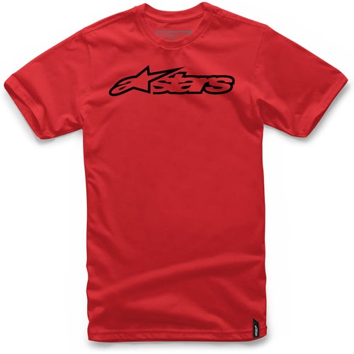 Alpinestars Blaze Short Sleeve T-Shirt - Red Black