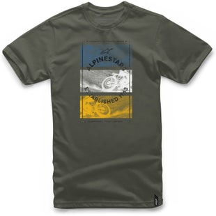 Alpinestars Burnt Short Sleeve T-Shirt - Military