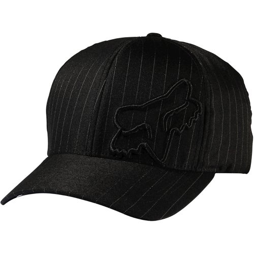 Fox Racing Flex 45 Flexfit , Cap - Black Pinstripe