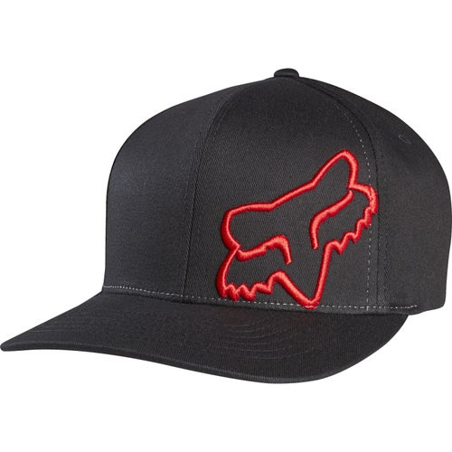 Fox Racing Flex 45 Flexfit Cap - Black Red
