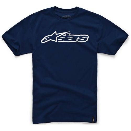 Alpinestars Blaze Short Sleeve T-Shirt - Navy White