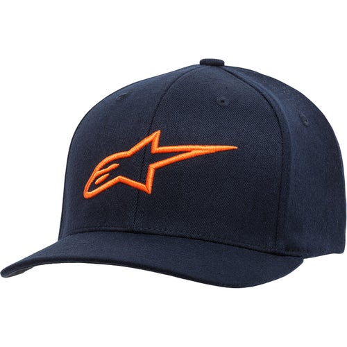 Alpinestars Ageless Curve Cap - Navy/orange