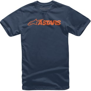 Alpinestars Mx Blaze Short Sleeve T-Shirt - Navy