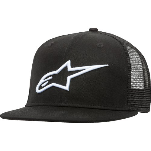 Alpinestars Corp Trucker , Cap - Black/white