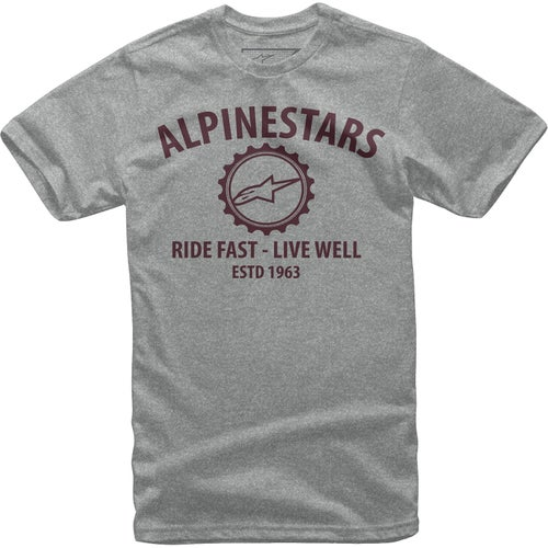 Alpinestars Big Gear , Kortermet t-skjorte - Grey Heather