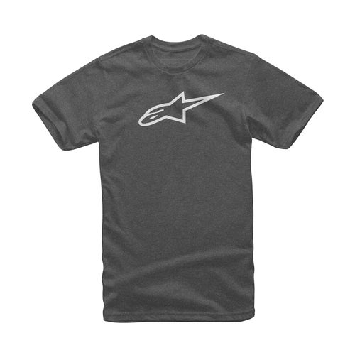 Alpinestars Ageless Classic Short Sleeve T-Shirt - Charcoal Heather/white