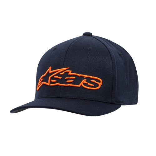 Alpinestars Blaze Flexfit , Cap - Navy/orange