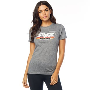 Fox Racing Retro Fox Crew Short Sleeve T-Shirt - Htr Graph