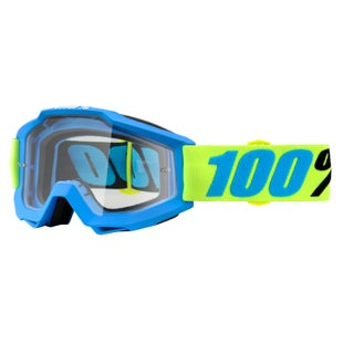 100 Percent Accuri Motocross Goggles - Belize ~ Clear Lens